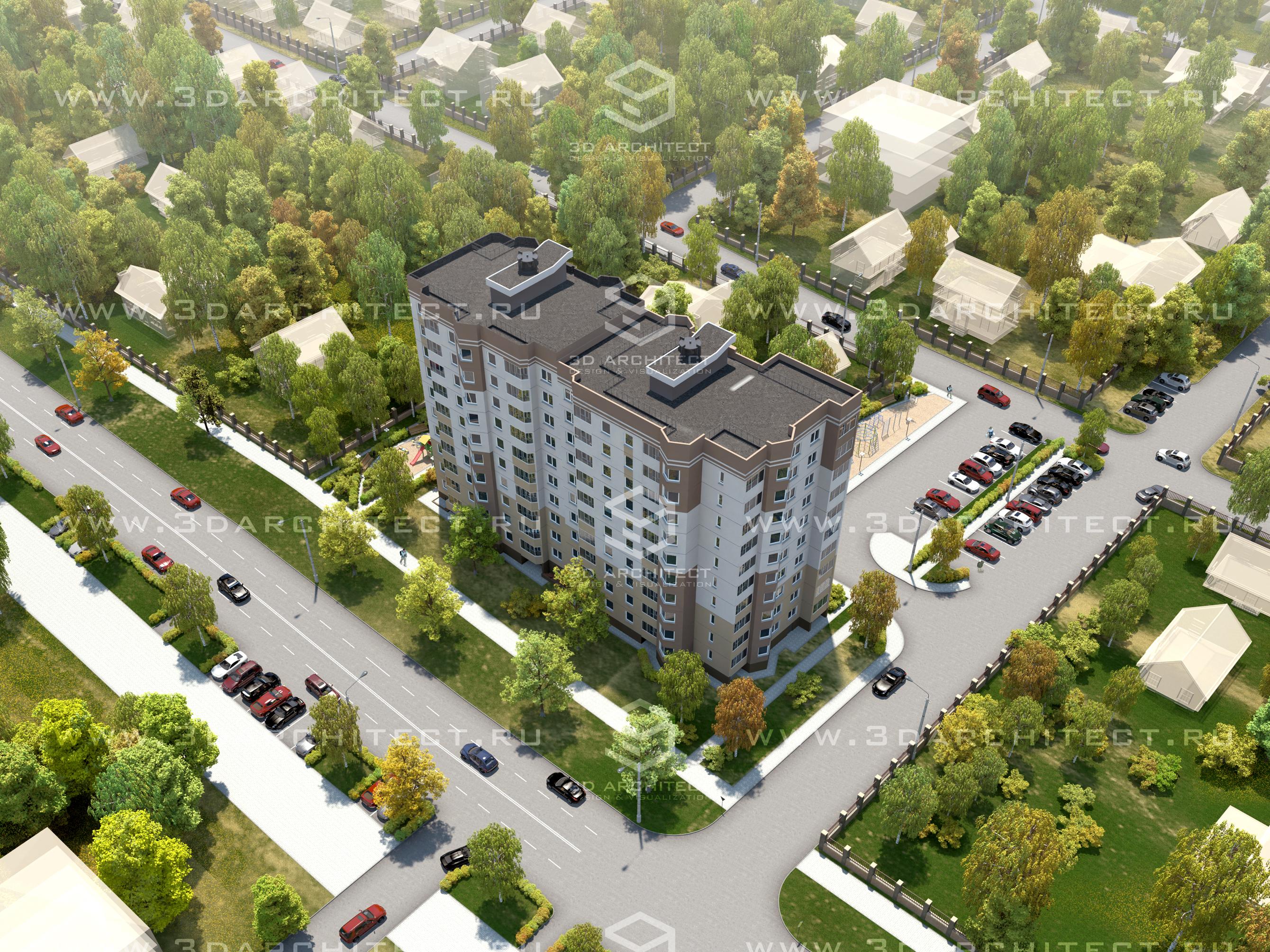 3d модель типовые многоэтажные дома, max(2012), скачать.