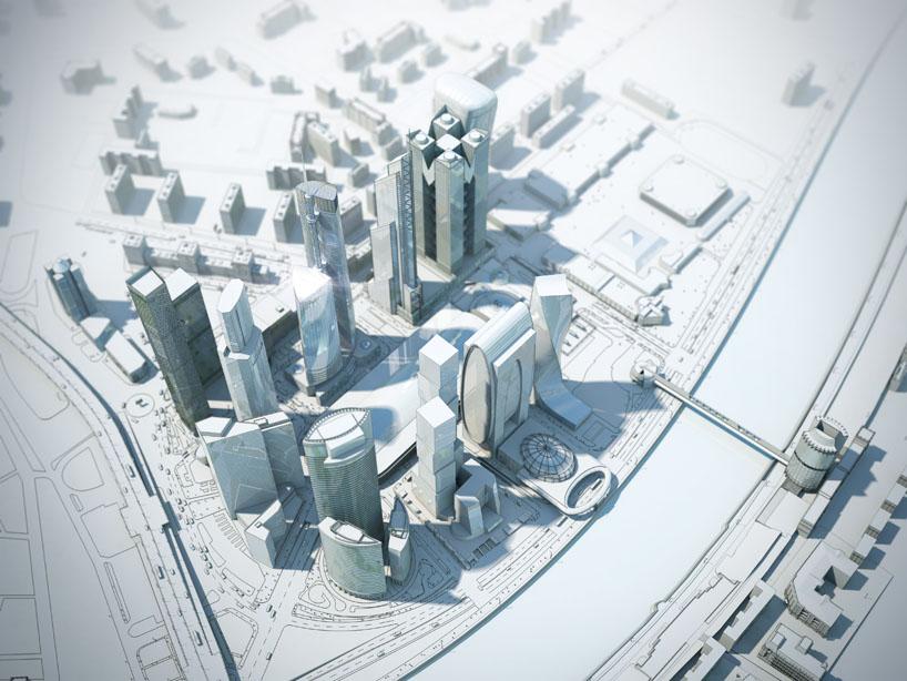 Схема застройки Москва-Сити