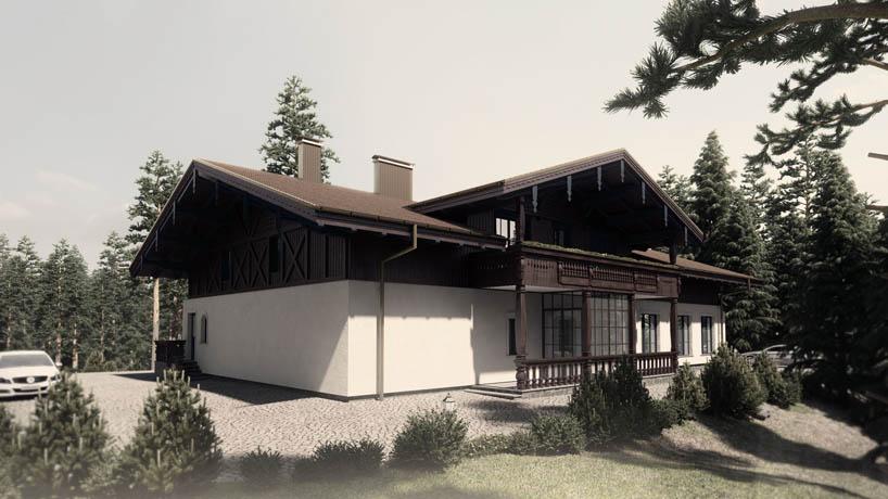 авторский проект 3D реклама элитного коттеджного поселка