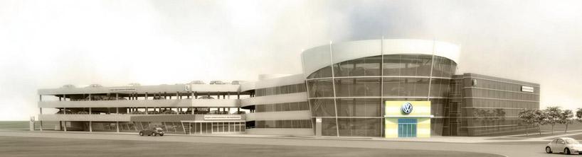концепция застройки showroom dilersheap автосалон паркинг продажа автомобилей Архитектура здания 3d архитектурная графика