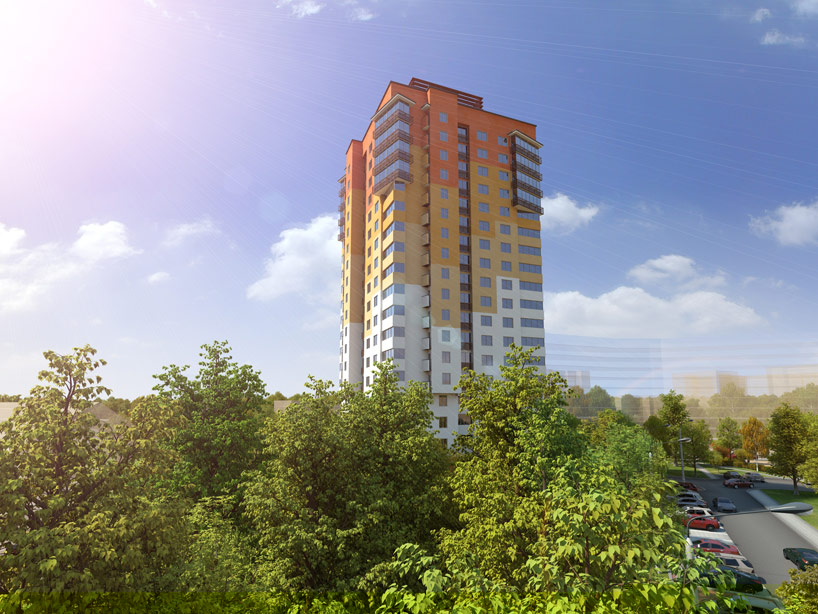 "Архитектурная визуализация и 3d модель проекта жилого дома ""Бетховен"", Минск"