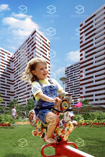 продажа недвижимости реклама 3d маркетинговая визуализация Mapic 2009 3d дизайн