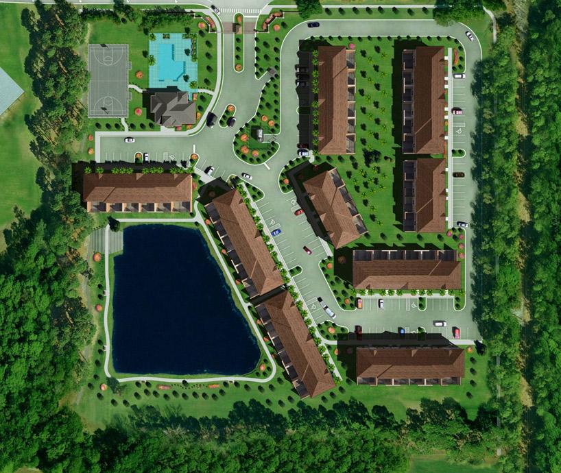 3D модель котежного поселка