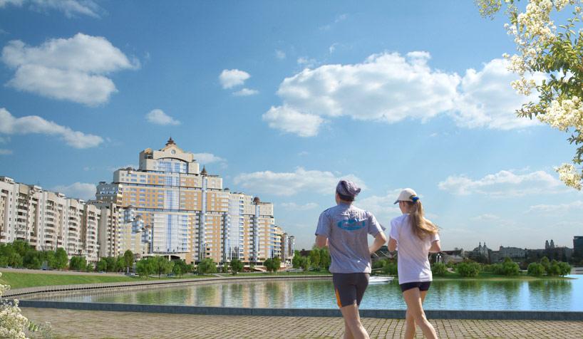 Маркетинговые материалы для продажи элитной недвижимости в центре Минска, жилой 3d визуализация