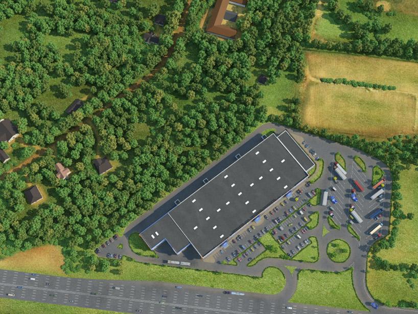 логистический центр промышленная визуализация инвестиции 3D моделирование
