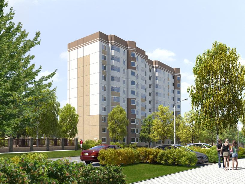 """3d визуализация архитектурных изображений дома """"Шопен"""""""