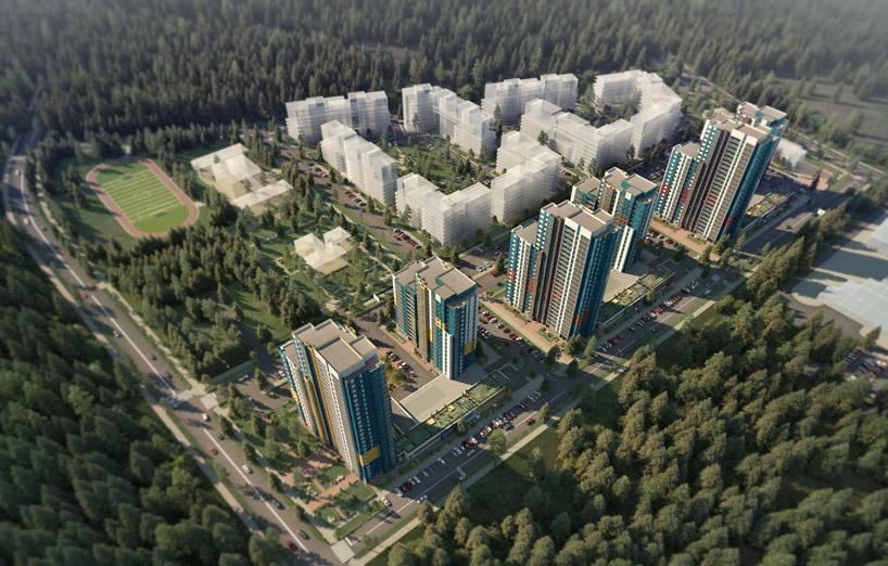 """3D визуализация проекта застройки нового жилого комплекса """"Белые ночи"""".  Новостройки будут расположены в микрорайоне №1 жилого района «Кукковка III».  Жилой объект будет состоять из 6-ти высотных монолитных домов переменной этажности от 13 до 25 этажей. Вся необходимая инфраструктура будет доступна на нижних этажах - магазины первой необходимости, аптеки, отделения банков и многое другое. Для Вас мы создаем уютное пространство с зонами отдыха, спортивными и детскими площадками, подземной парковк"""