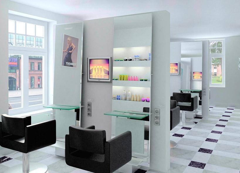 Дизайн салона красоты парикмахерская 3d дизайнер интерьеров Освещение парикмахерского зала