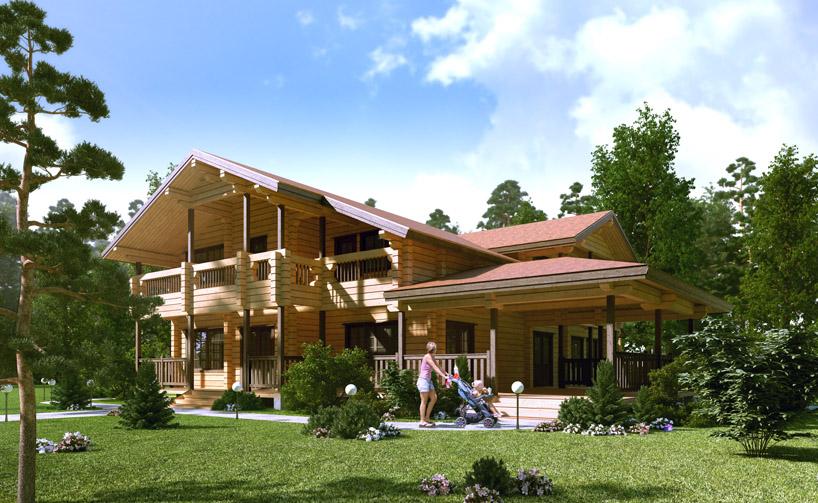визуализация домов из бруса