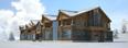 """3D-модель и визуализация горнолыжный курорт """"Манжерок"""""""